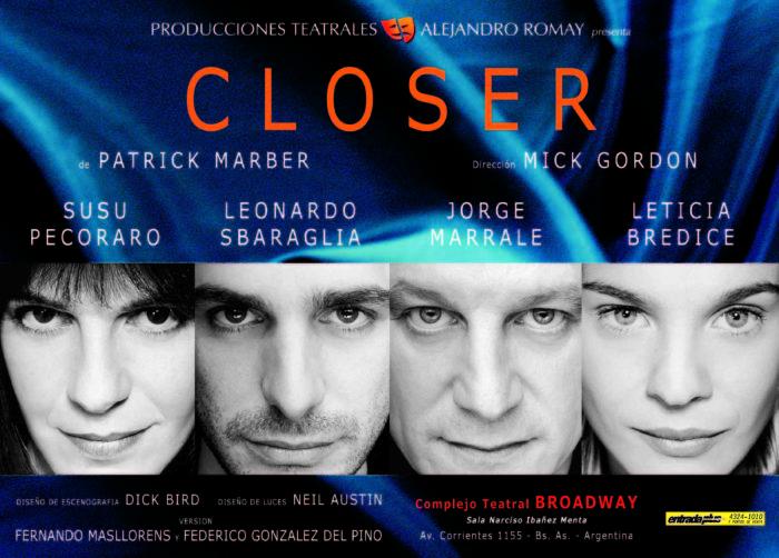 Closer Afiche 1999 - Teatro El Nacional Temporadas