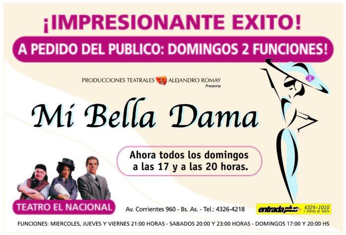 Mi Bella Dama 2000 - Teatro El Nacional Temporadas