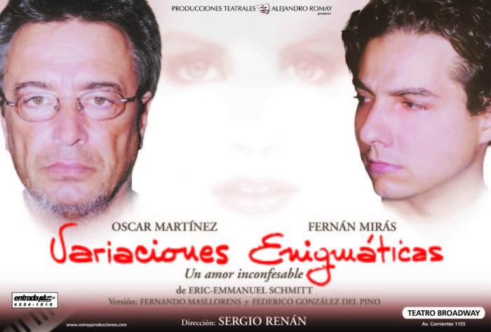 Variaciones Enigmaticas con Oscar Martinez y Fernan Miras - Teatro El Nacional